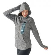 Wholesale Cheap Women's NFL Carolina Panthers G-III 4Her by Carl Banks Recovery Full-Zip Hoodie Heathered Gray