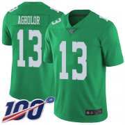 Wholesale Cheap Nike Eagles #13 Nelson Agholor Green Men's Stitched NFL Limited Rush 100th Season Jersey