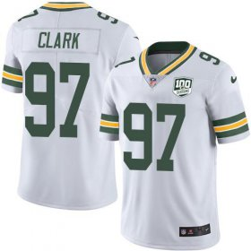 Wholesale Cheap Nike Packers #97 Kenny Clark White Men\'s 100th Season Stitched NFL Vapor Untouchable Limited Jersey