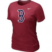 Wholesale Cheap Women's MLB Boston Red Sox Heathered Nike Blended T-Shirt Red