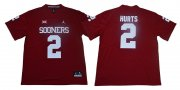 Wholesale Cheap Oklahoma Sooners 2 Jalen Hurts Red College Football Jersey