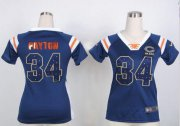Wholesale Cheap Nike Bears #34 Walter Payton Navy Blue Team Color Women's Stitched NFL Elite Draft Him Shimmer Jersey