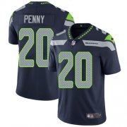 Wholesale Cheap Nike Seahawks #20 Rashaad Penny Steel Blue Team Color Men's Stitched NFL Vapor Untouchable Limited Jersey