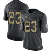 Wholesale Cheap Nike Packers #23 Jaire Alexander Black Men's Stitched NFL Limited 2016 Salute To Service Jersey