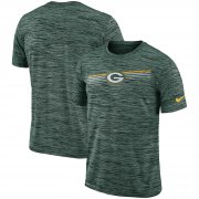 Wholesale Cheap Green Bay Packers Nike Sideline Velocity Performance T-Shirt Heathered Green