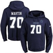 Wholesale Cheap Nike Cowboys #70 Zack Martin Navy Blue Name & Number Pullover NFL Hoodie