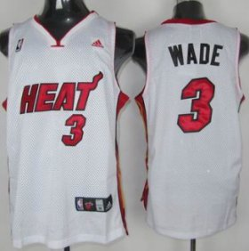 Wholesale Cheap Miami Heat #3 Dwyane Wade White Swingman Jersey