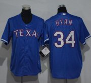 Wholesale Cheap Rangers #34 Nolan Ryan Blue Cool Base Stitched Youth MLB Jersey
