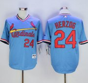 Wholesale Cheap Cardinals #24 Whitey Herzog Blue 1982 Turn Back The Clock Stitched MLB Jersey
