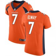 Wholesale Cheap Nike Broncos #7 John Elway Orange Team Color Men's Stitched NFL Vapor Untouchable Elite Jersey