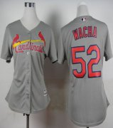 Wholesale Cheap Cardinals #52 Michael Wacha Grey Road Women's Stitched MLB Jersey