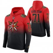 Wholesale Cheap Vegas Golden Knights #71 William Karlsson Adidas Reverse Retro Pullover Hoodie Red Black