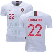 Wholesale Cheap Portugal #22 Eduardo Away Kid Soccer Country Jersey