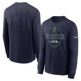 Wholesale Cheap Seattle Seahawks Nike Icon Legend Performance Long Sleeve T-Shirt College Navy