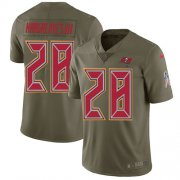 Wholesale Cheap Nike Buccaneers #28 Vernon Hargreaves III Olive Youth Stitched NFL Limited 2017 Salute to Service Jersey