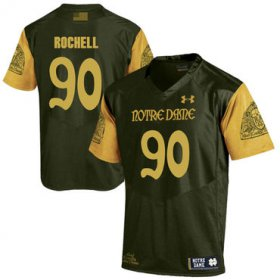 Wholesale Cheap Notre Dame Fighting Irish 90 Isaac Rochell Olive Green College Football Jersey