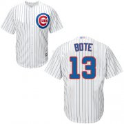 Wholesale Cheap Cubs #13 David Bote White Strip New Cool Base Stitched MLB Jersey