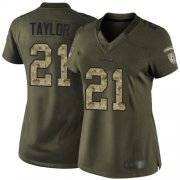 Wholesale Cheap Nike Redskins #21 Sean Taylor Green Women's Stitched NFL Limited 2015 Salute to Service Jersey