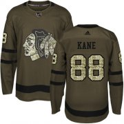 Wholesale Cheap Adidas Blackhawks #88 Patrick Kane Green Salute to Service Stitched Youth NHL Jersey