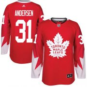 Wholesale Cheap Adidas Maple Leafs #31 Frederik Andersen Red Team Canada Authentic Stitched Youth NHL Jersey