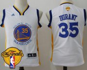Wholesale Cheap Men's Warriors #35 Kevin Durant White 2017 The Finals Patch Stitched NBA Jersey