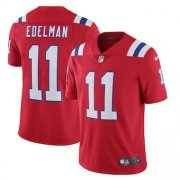 Wholesale Cheap New England Patriots #11 Julian Edelman Men's Nike Red Alternate 2020 Vapor Limited Jersey
