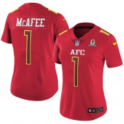 Wholesale Cheap Nike Colts #1 Pat McAfee Red Women's Stitched NFL Limited AFC 2017 Pro Bowl Jersey