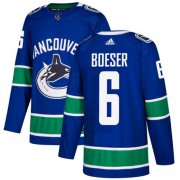 Wholesale Cheap Adidas Canucks #6 Brock Boeser Blue Home Authentic Youth Stitched NHL Jersey