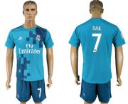 Wholesale Cheap Real Madrid #7 Raul Sec Away Soccer Club Jersey
