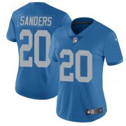 Wholesale Cheap Nike Lions #20 Barry Sanders Blue Throwback Women's Stitched NFL Vapor Untouchable Limited Jersey
