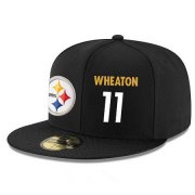 Wholesale Cheap Pittsburgh Steelers #11 Markus Wheaton Snapback Cap NFL Player Black with White Number Stitched Hat