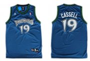 Wholesale Cheap Minnesota Timberwolves #19 Sam Cassell Blue Swingman Jersey