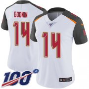 Wholesale Cheap Nike Buccaneers #14 Chris Godwin White Women's Stitched NFL 100th Season Vapor Untouchable Limited Jersey