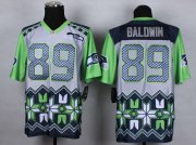 Wholesale Cheap Nike Seahawks #89 Doug Baldwin Grey Men's Stitched NFL Elite Noble Fashion Jersey
