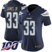 Wholesale Cheap Nike Chargers #33 Derwin James Jr Navy Blue Team Color Women's Stitched NFL 100th Season Vapor Limited Jersey