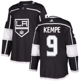 Wholesale Cheap Adidas Kings #9 Adrian Kempe Black Home Authentic Stitched NHL Jersey