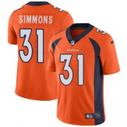 Wholesale Cheap Nike Broncos #31 Justin Simmons Orange Team Color Youth Stitched NFL Vapor Untouchable Limited Jersey