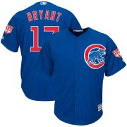 Wholesale Cheap Cubs #17 Kris Bryant Blue 2019 Spring Training Cool Base Stitched MLB Jersey