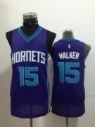 Wholesale Cheap Charlotte Hornets #15 Kemba Walker Purple Swingman Jersey