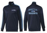 Wholesale Cheap NFL Seattle Seahawks Heart Jacket Dark Blue