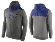 Wholesale Cheap Men's Chicago Cubs Nike Gray Cooperstown Collection Hybrid Pullover Hoodie