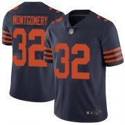 Wholesale Cheap Nike Bears #32 David Montgomery Navy Blue Alternate Men's Stitched NFL Vapor Untouchable Limited Jersey