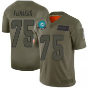 Wholesale Cheap Nike Dolphins #75 Ereck Flowers Camo Youth Stitched NFL Limited 2019 Salute To Service Jersey