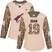 Wholesale Cheap Adidas Coyotes #19 Shane Doan Camo Authentic 2017 Veterans Day Women's Stitched NHL Jersey