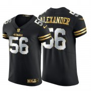 Wholesale Cheap San Francisco 49ers #56 Kwon Alexander Men's Nike Black Edition Vapor Untouchable Elite NFL Jersey