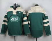 Wholesale Cheap Nike Jets Blank Green Player Pullover NFL Hoodie