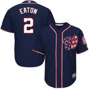 Wholesale Cheap Nationals #2 Adam Eaton Navy Blue Cool Base Stitched Youth MLB Jersey