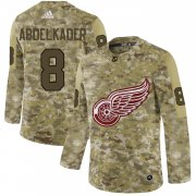 Wholesale Cheap Adidas Red Wings #8 Justin Abdelkader Camo Authentic Stitched NHL Jersey