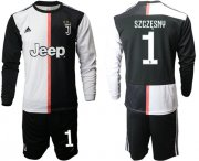 Wholesale Cheap Juventus #1 Szczesny Home Long Sleeves Soccer Club Jersey