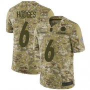 Wholesale Cheap Nike Steelers #6 Devlin Hodges Camo Men's Stitched NFL Limited 2018 Salute To Service Jersey